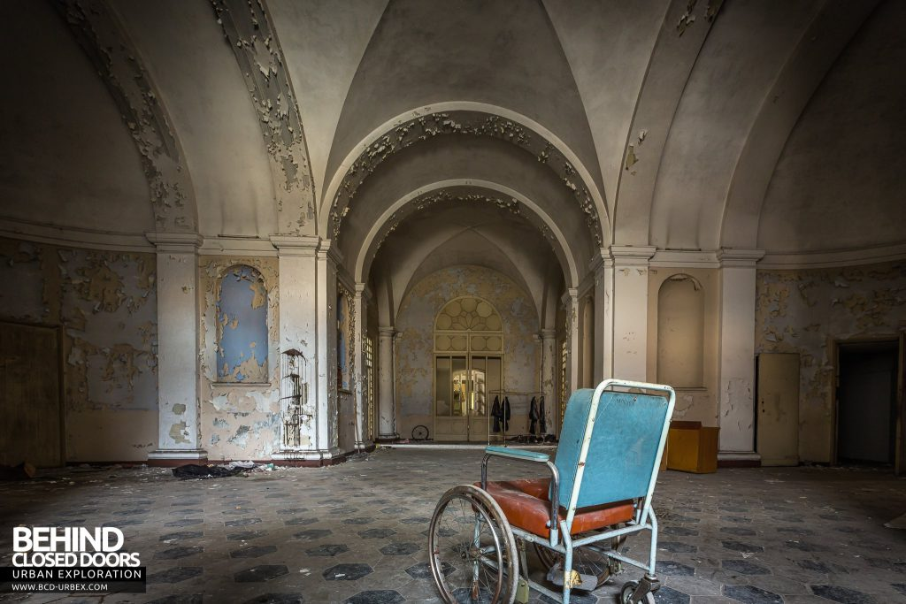 Manicomio di Colorno, Italy - Wheelchair in entrance hall