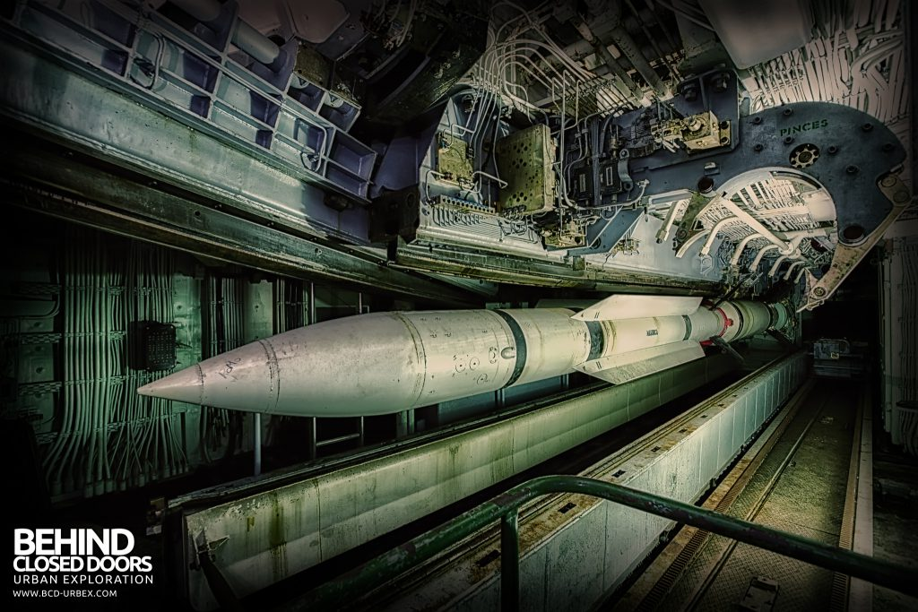 Atlantic Ghost Fleet - Exocet Missile suspended in launching system
