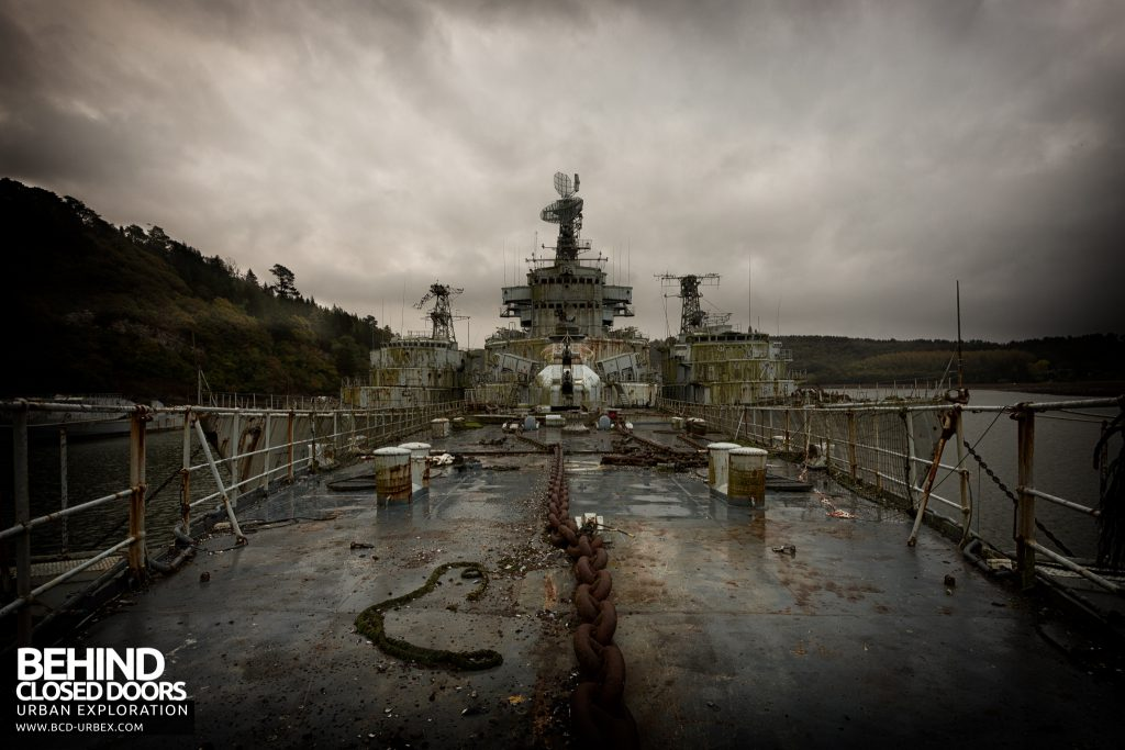 Atlantic Ghost Fleet - On the deck viewed from the front of the ship