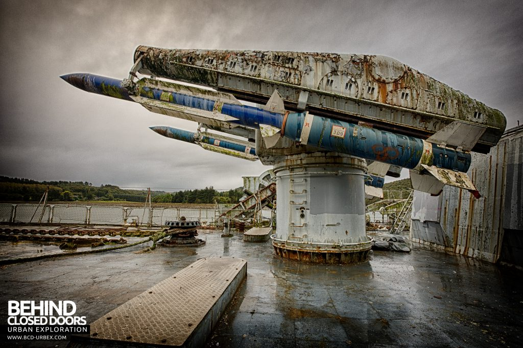 Atlantic Ghost Fleet - Side view of two of the four Masurca Missiles