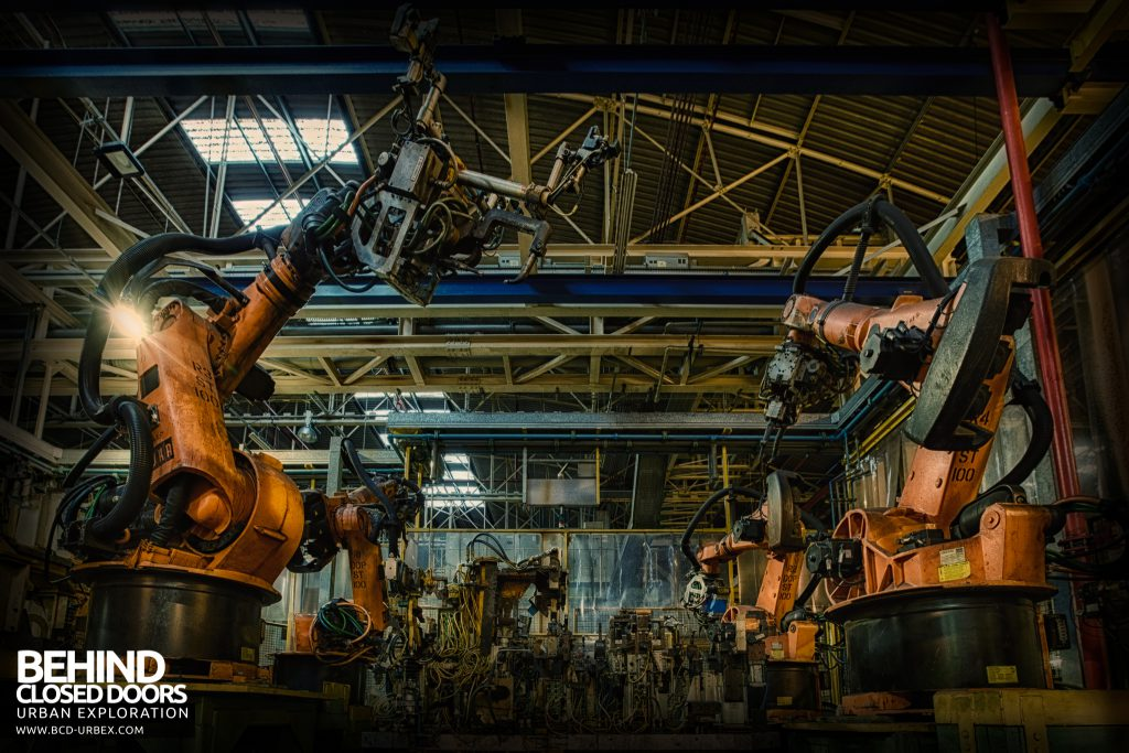 Ford Plant, Swaythling - An army of robots