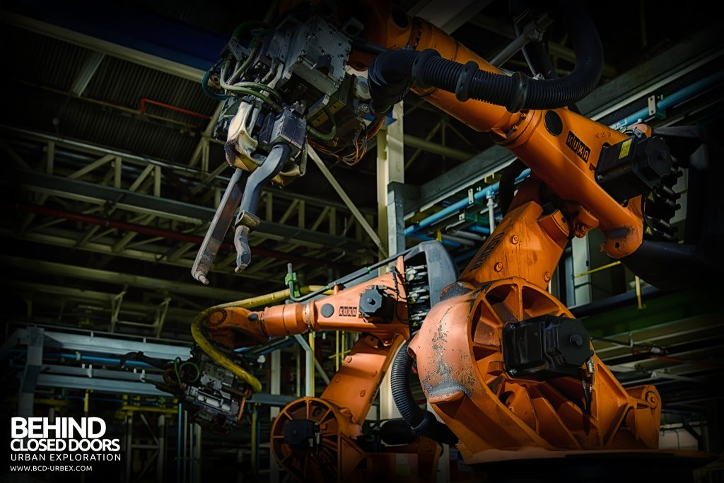 Ford Plant, Swaythling - Automated robots fitted with welding gear