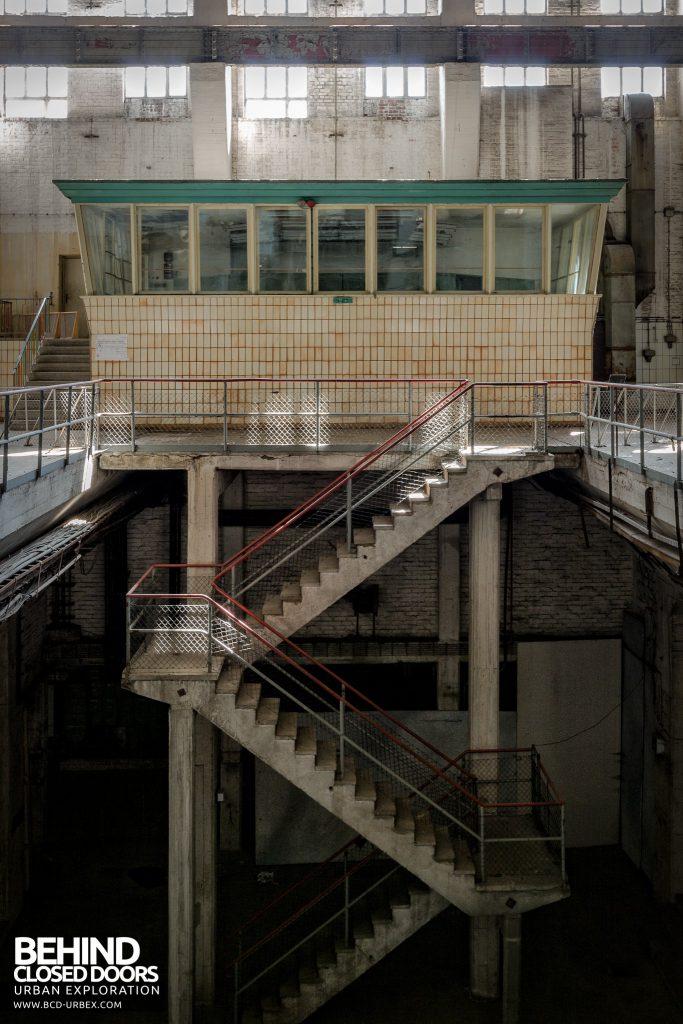 Kraftwerk V, Germany - Staircase to control room