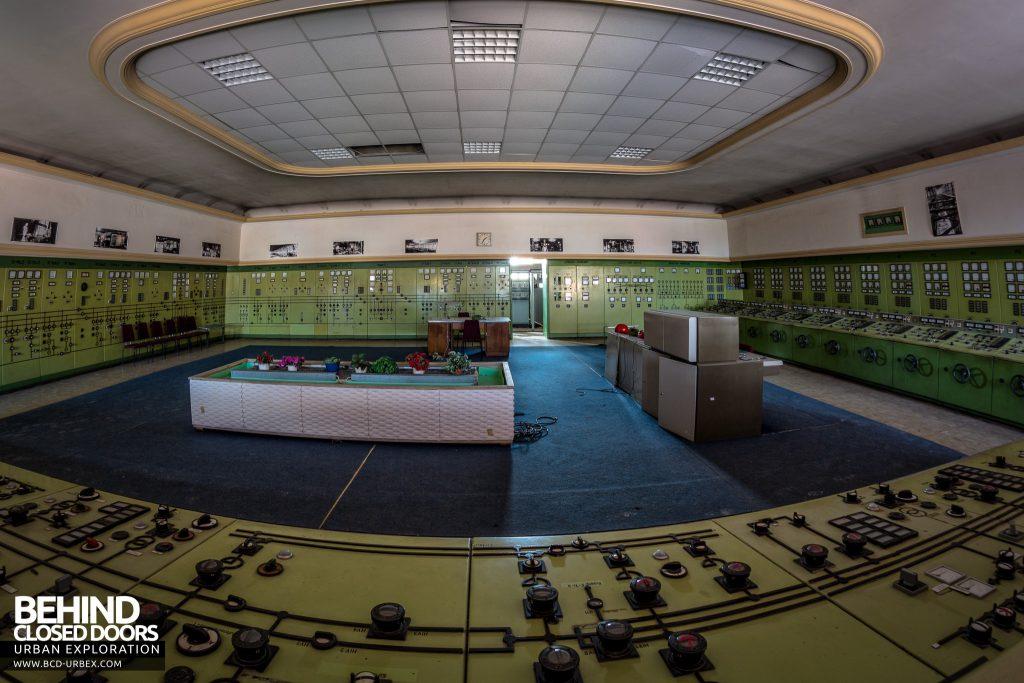 Kraftwerk V, Germany - The huge main control room is well preserved