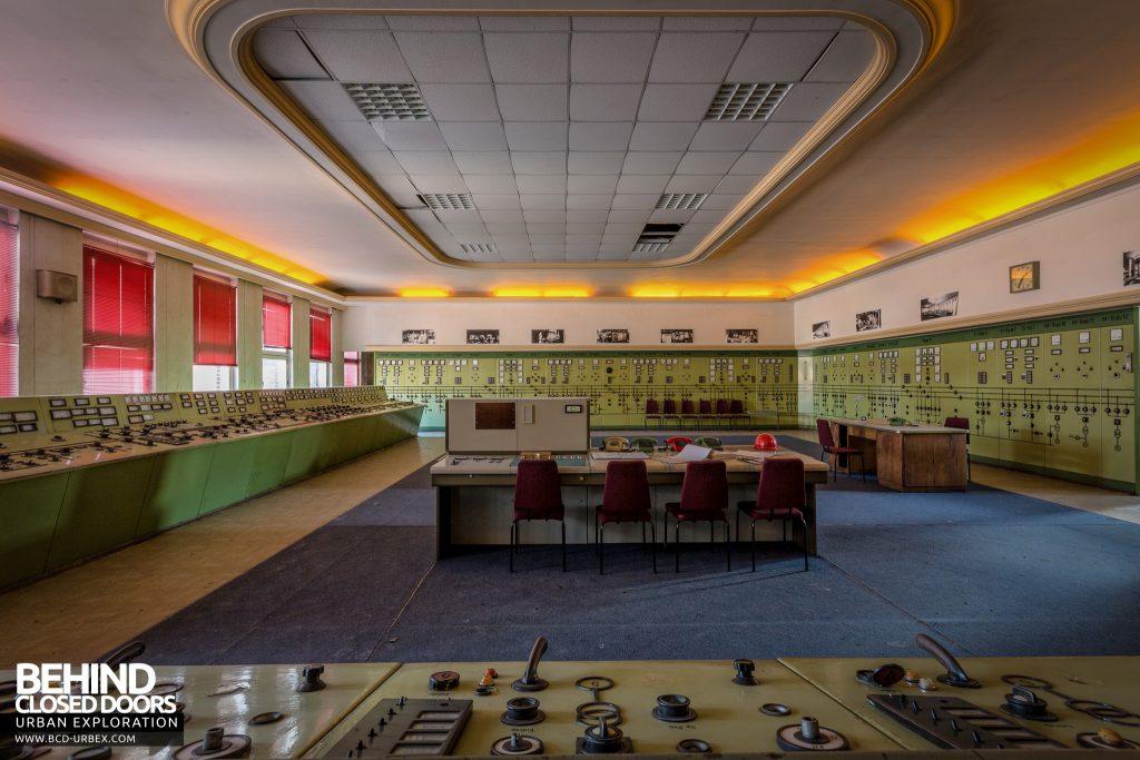 Kraftwerk V, Germany - Lights still on in the main control room