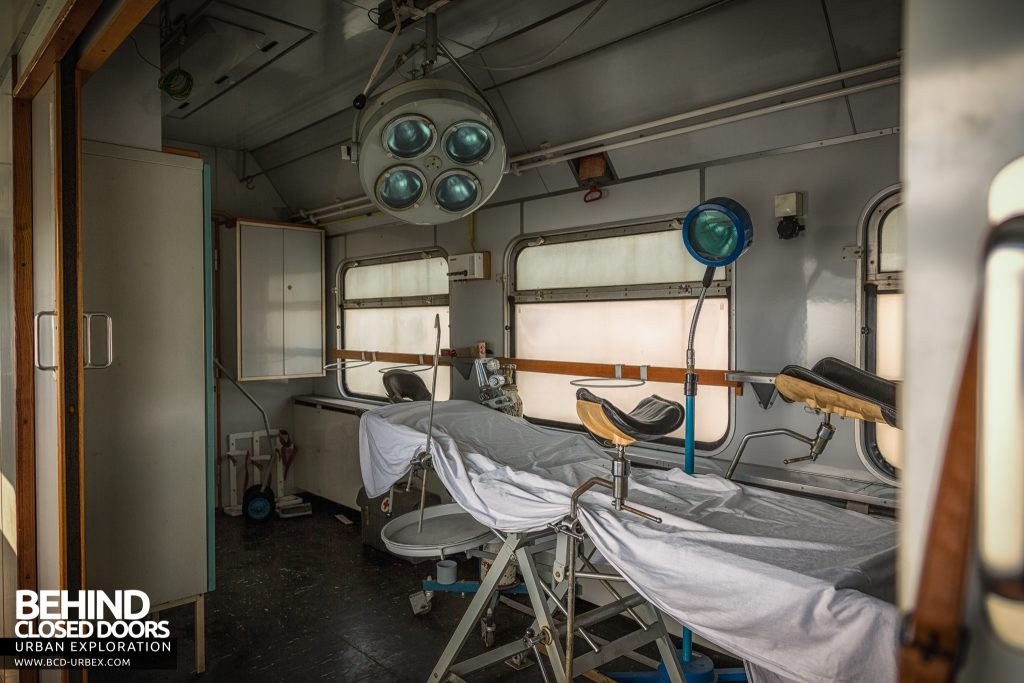 Medical Train, Germany - Looking into the treatment area