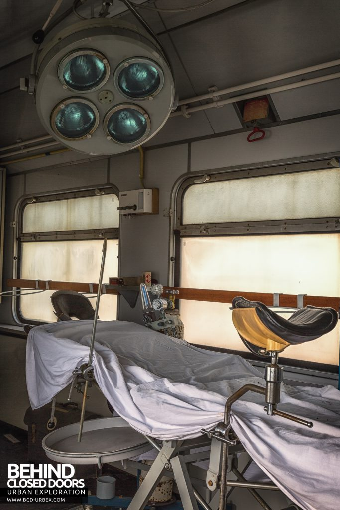 Medical Train, Germany - Stirrups on bed