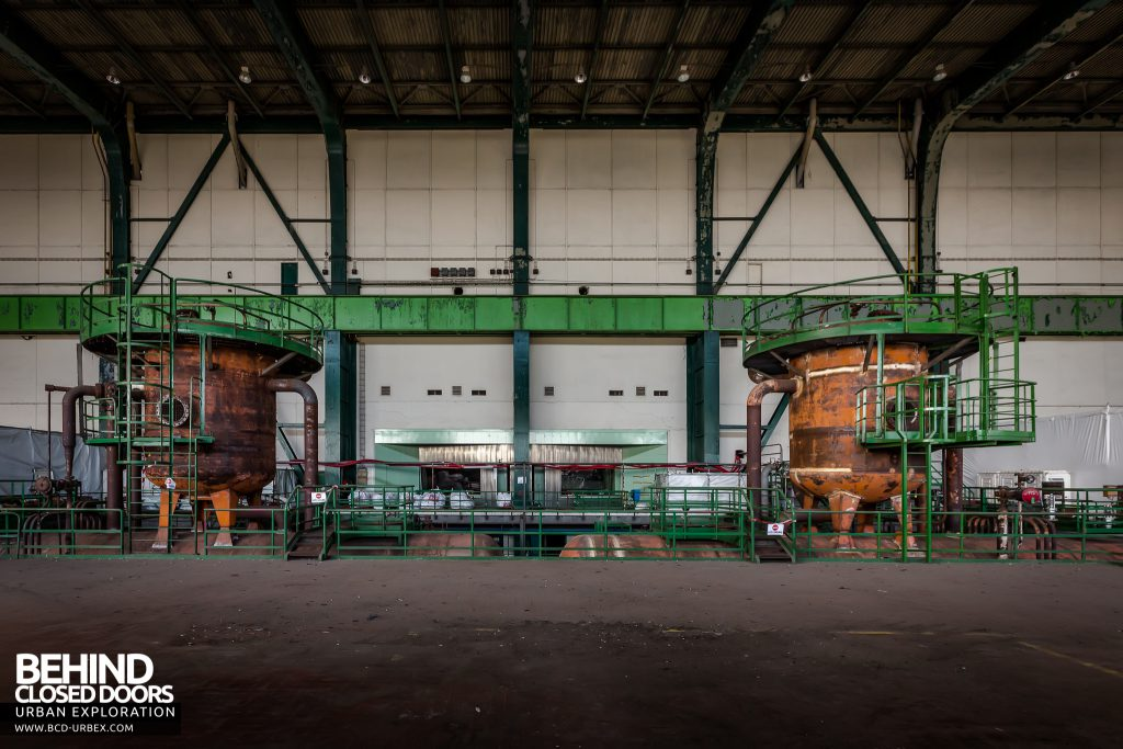 Richemont Power Plant - Large orange tanks