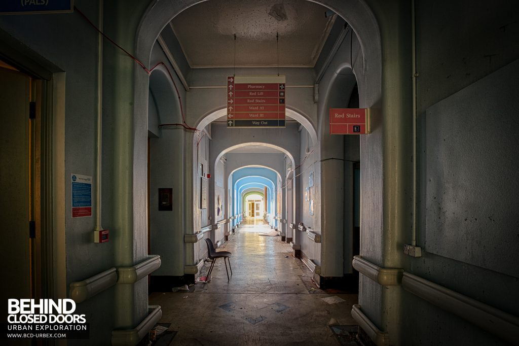 Selly Oak Hospital - Looking down the main corridor