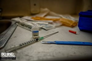Selly Oak Hospital - Syringe and scalpel