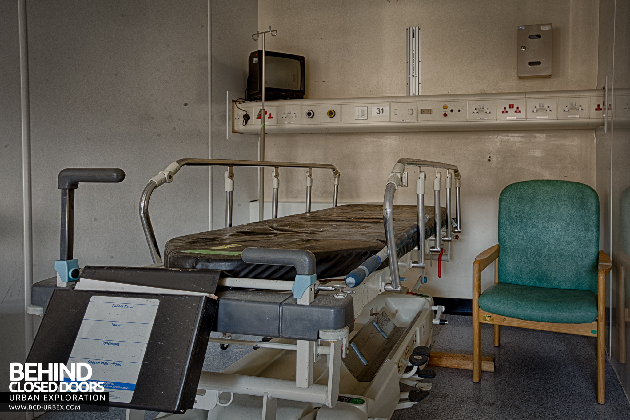 Selly Oak Hospital Bed In A Ward Room