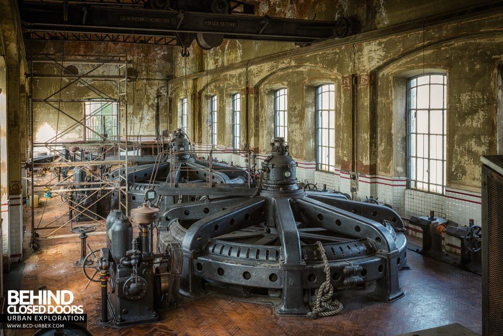 Black Turbines - Brown Boveri hydroelectric turbines