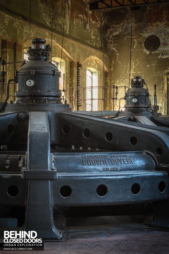 Black Turbines - Brown Boveri hydro powered turbine