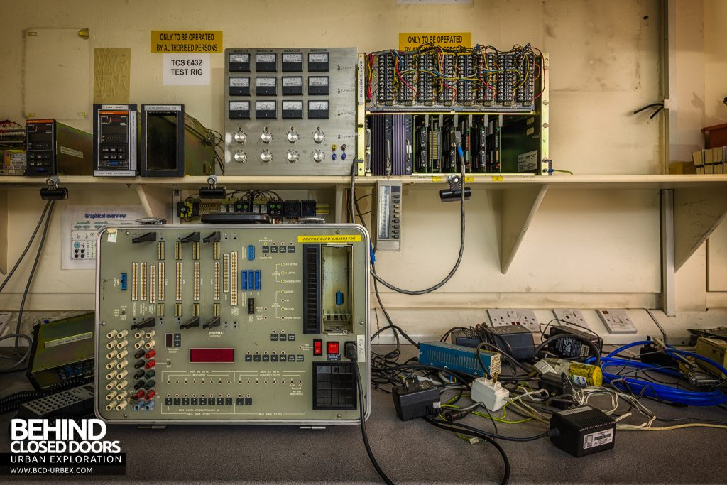 British Celanese, Spondon - Test equipment on bench in R&D Centre