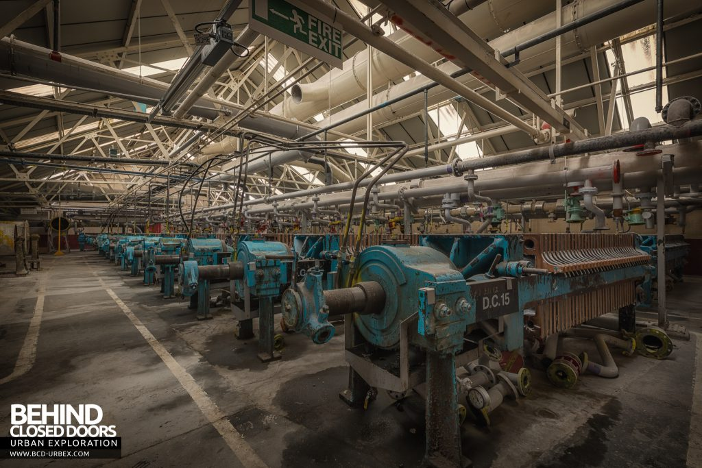 British Celanese, Spondon - Rows of machines