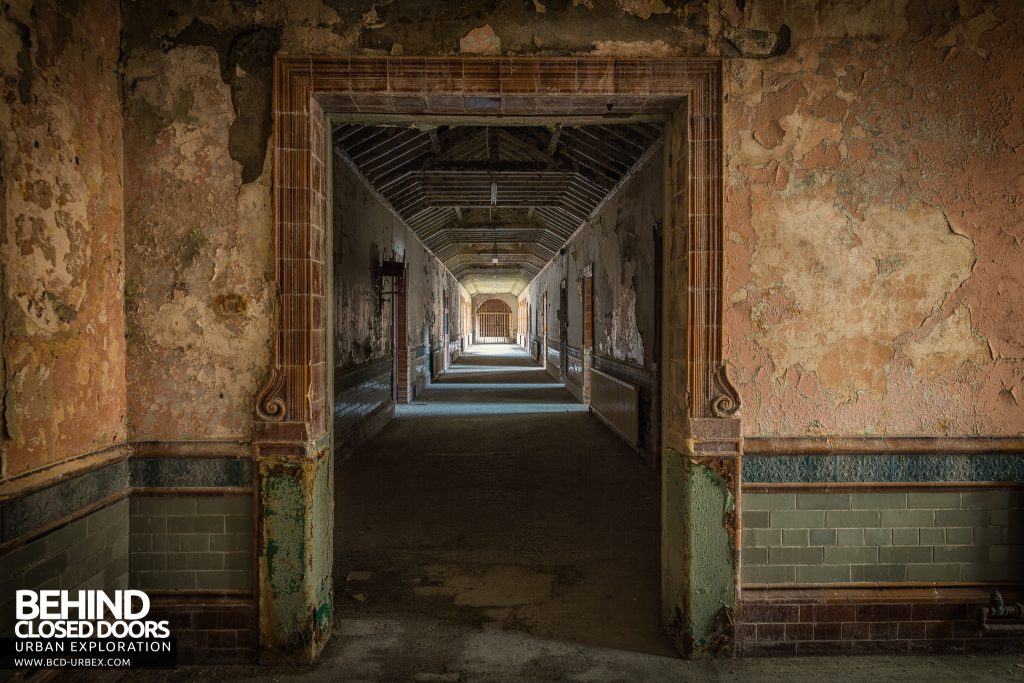 High Royds Asylum - One of the few square corridor entrances