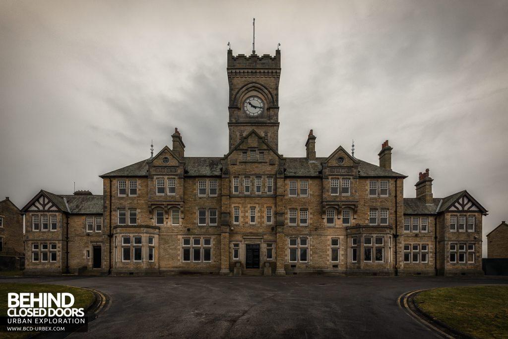 High Royds Asylum - External view of the main admin building