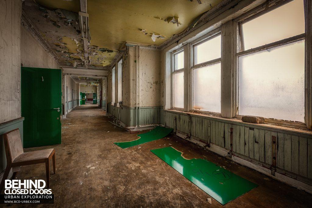 High Royds Asylum - Decaying corridor