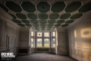 High Royds Asylum - Chequered ceiling