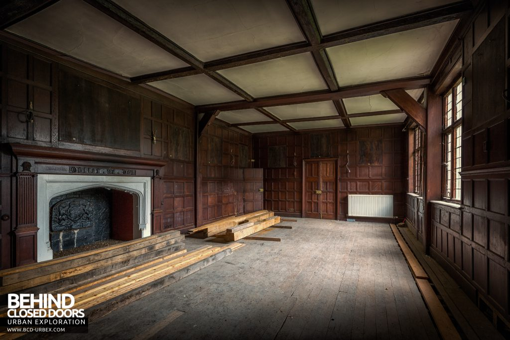 Pitchford Hall - Looks like some repair work is taking place