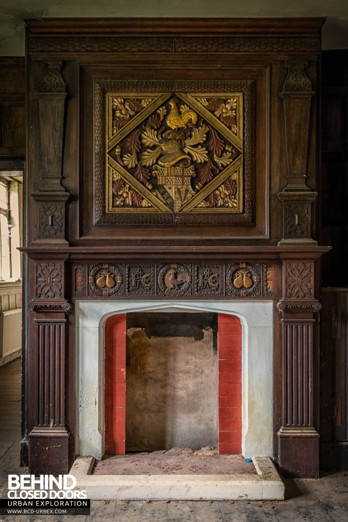 Pitchford Hall - Carved fireplace detail
