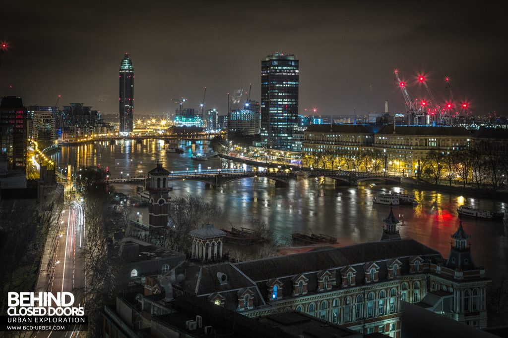 London Rooftops - View along the Thames