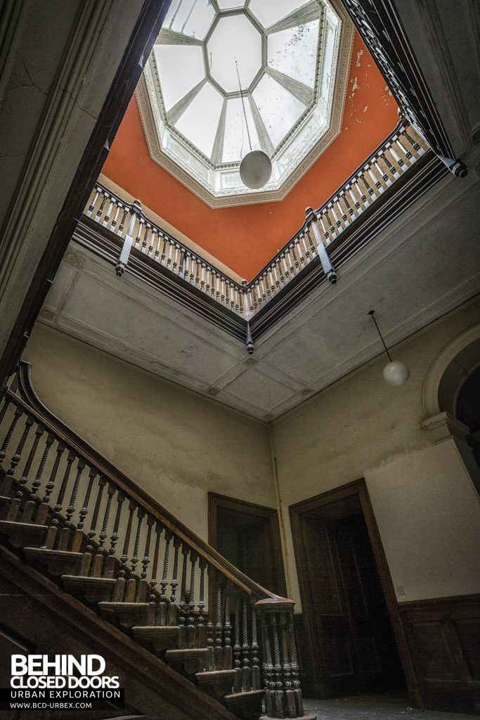Brogyntyn Hall - View up stairs