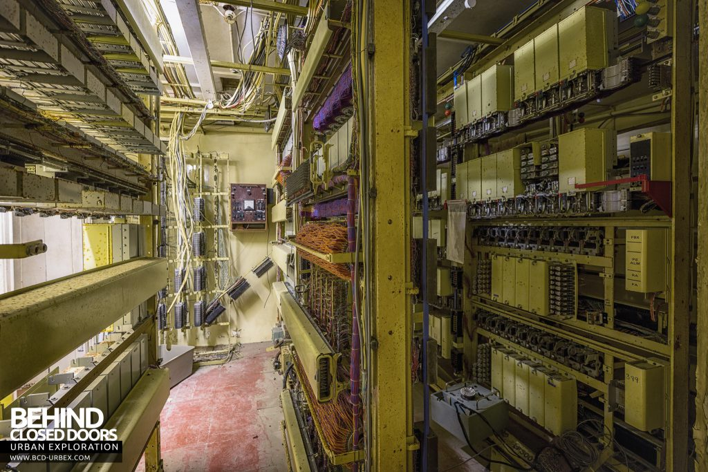 Brogyntyn Hall - Telephone exchange circuitry
