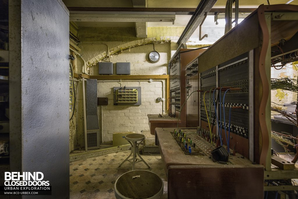 Brogyntyn Hall - Switchboards in the telephone exchange
