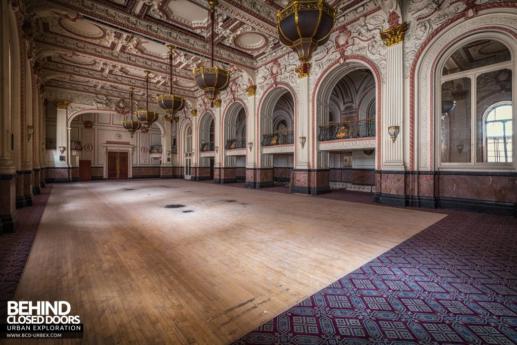 The Grand Hotel, Birmingham - View down the huge ballroom