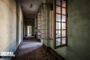 St Joseph's Orphanage Italy - Windows in corridor