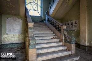 St Joseph's Orphanage Italy - Bottom of stairs