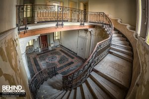 Villa Margherita, Italy - On the stairs