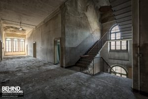 Blue Chapel Monastery, Italy - Staircase and corridor