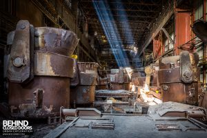 CSGD Steel Works, Belgium - Light beams