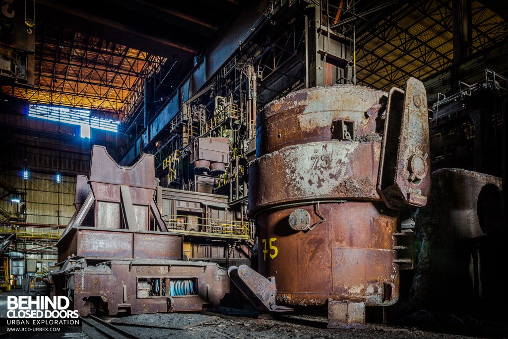 CSGD Steel Works, Belgium - Ladle and equipment