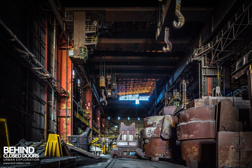 CSGD Steel Works, Belgium - Ladles and cranes