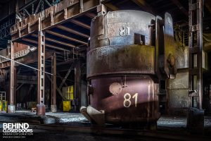 CSGD Steel Works, Belgium - Ladle in the light