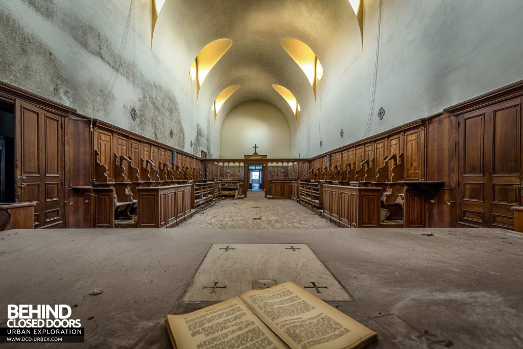 Monastero MG, Italy - A book about something or other in the main chapel