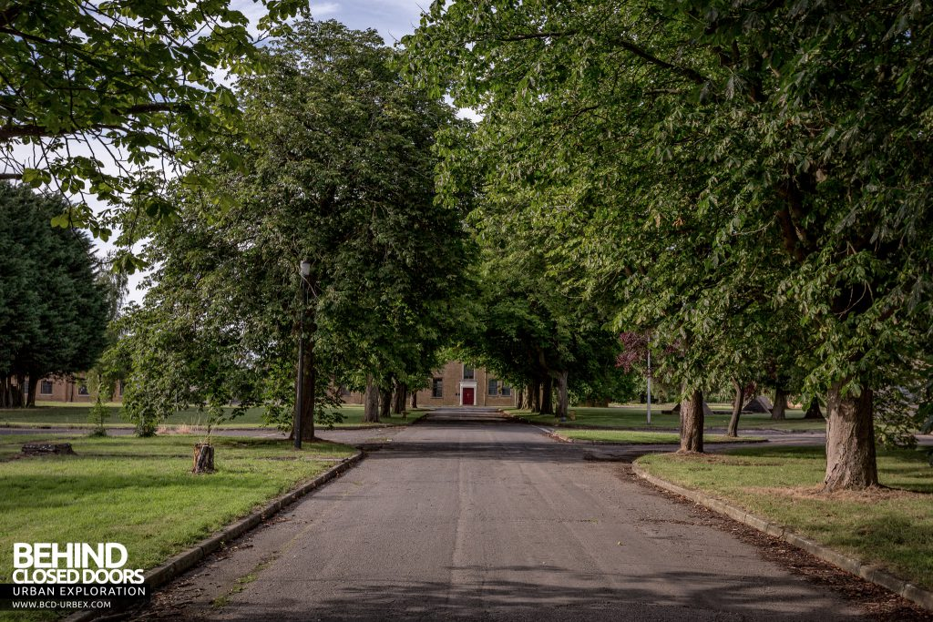 RAF West Raynham - View down a tree lined avenue