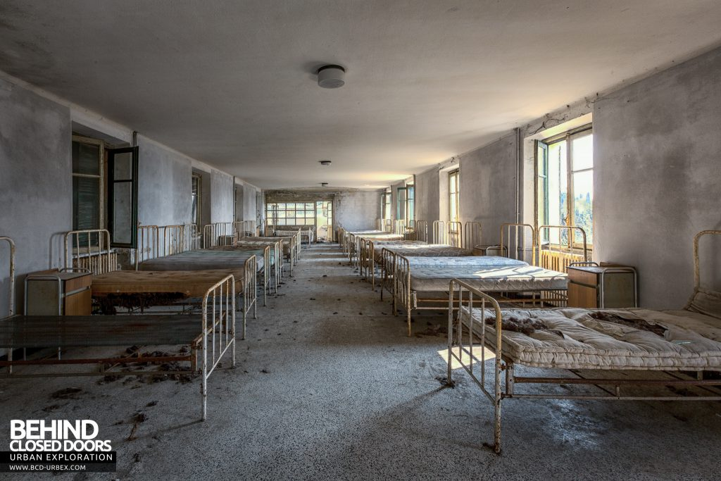 Red Cross Hospital, Italy - Rows of beds in dormitory