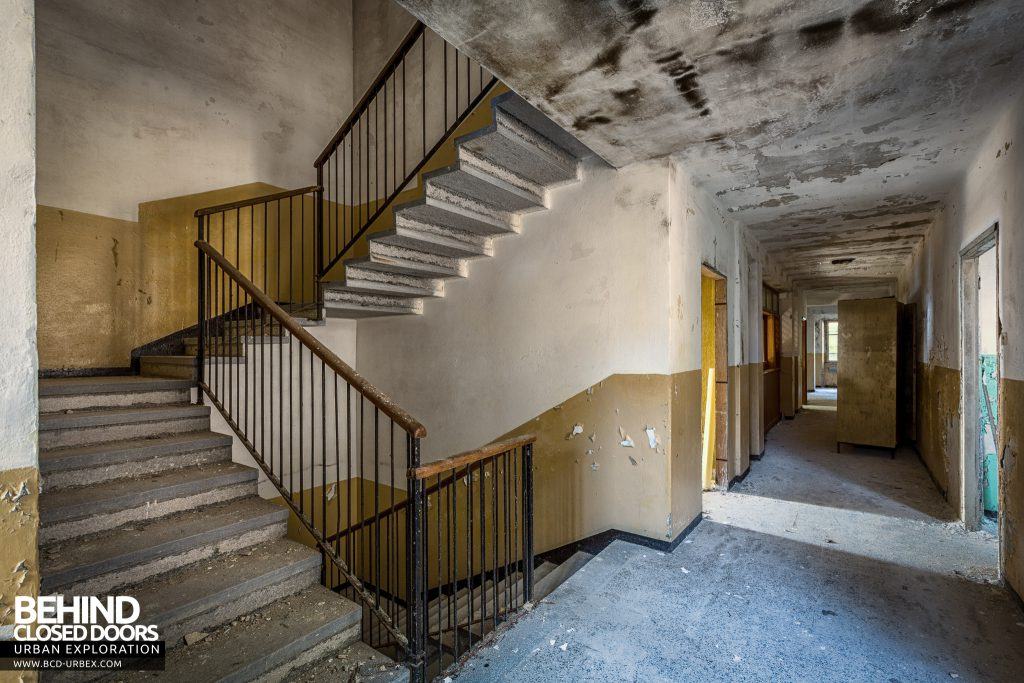 Red Cross Hospital, Italy - Staircase and corridor