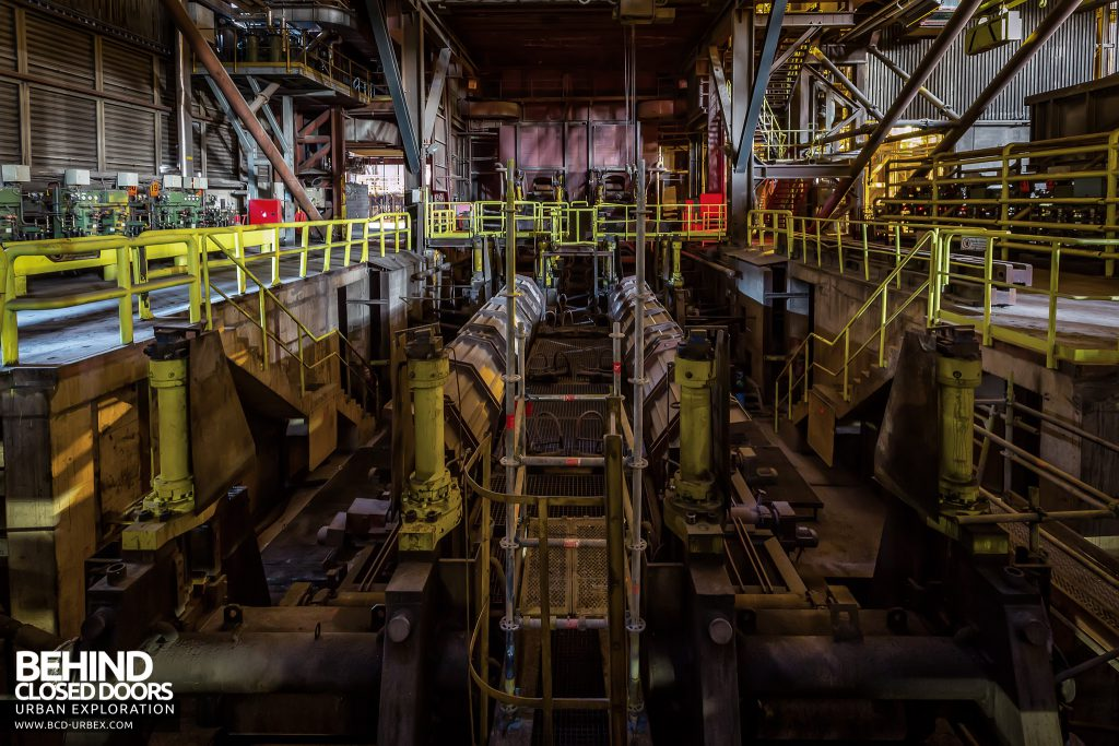 S.M. Steel Works, Belgium - Machinery in the rolling mill