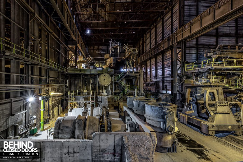 S.M. Steel Works, Belgium - View down the main production area