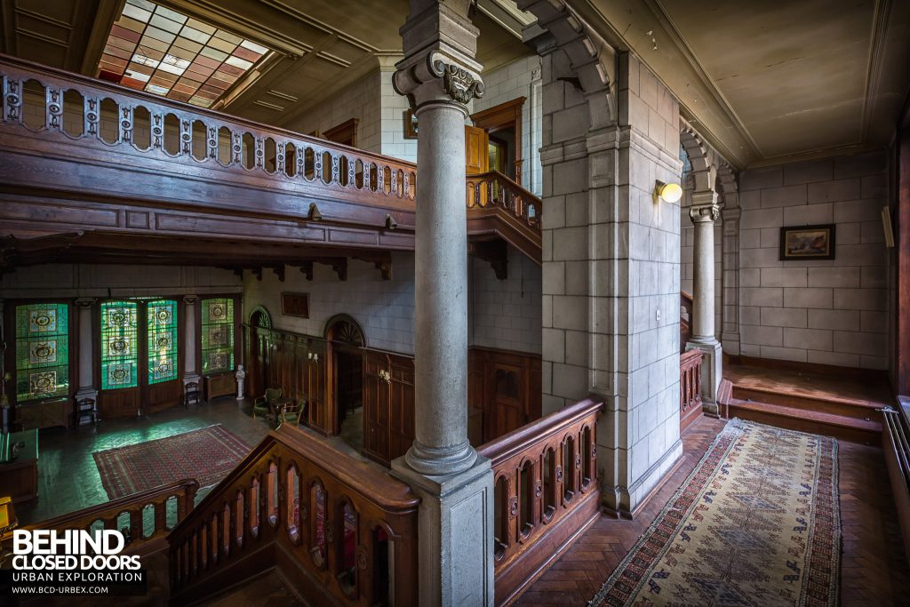 Town Mansion, Belgium - View on the staircase