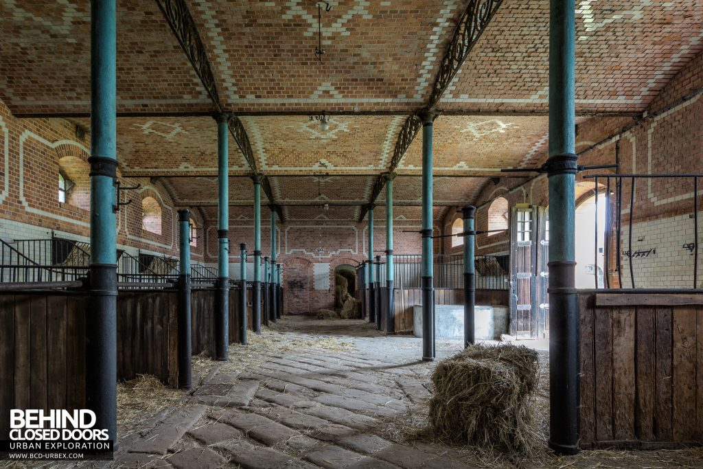 Schloss V, Germany - Hay bail in the stables