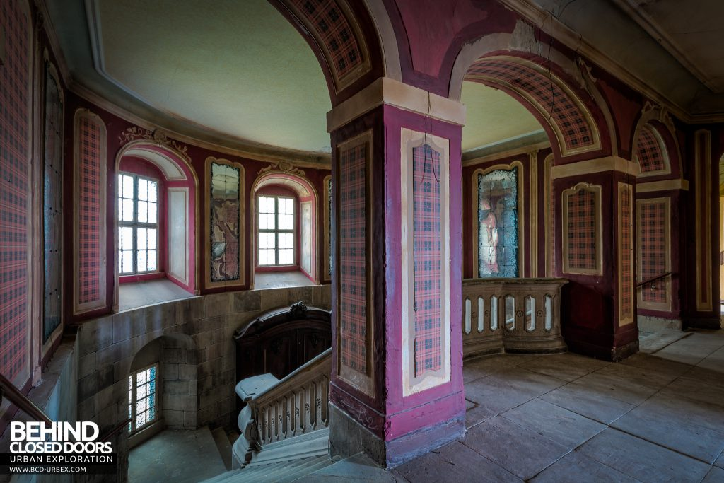 Schloss V, Germany - Top of the staircase