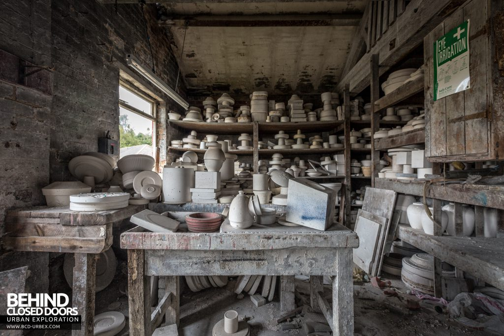 T. G. Greens Pottery - Store room stacked high with pots and bowls