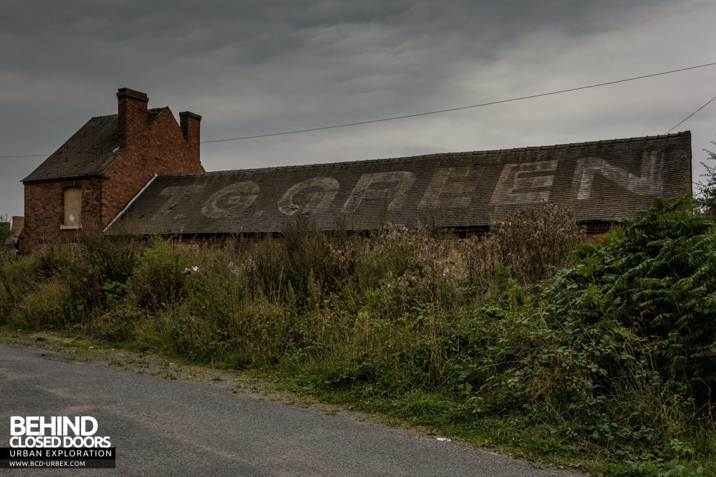 T. G. Greens Pottery - External with company name on roof