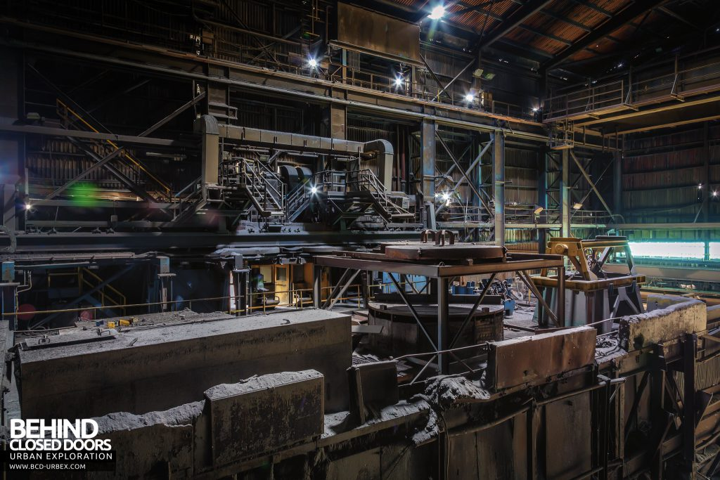 Thamesteel Sheerness - Platforms in the casting house